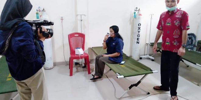 Shooting dayak tv. Utk ruang singgah (Ruang Oksigen) di posko siaga karhutla RSU kelas D Kota Palangka Raya