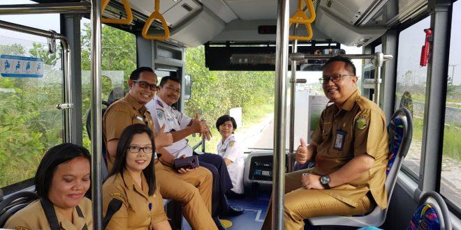 Uji Coba Trayek Baru Bus Rapid Transit ( BRT )