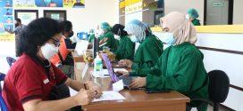 Kegiatan Vaksinasi Dinas PUPR Prop. Kalteng Hari ke-2 ( Jumat, 9 April 2021 ) di RSUD Kota Palangka Raya.