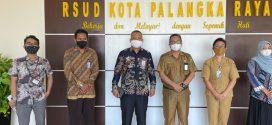 Kegiatan Menerima Kunjungan Manajemen Bank Syariah Indonesia ( BSI ) di RSUD Kota Palangka Raya ( Senin, 19 April 2021, pkl. 09.00 WIB )