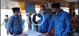 Penandatanganan MoU antara RSUD Kota P. Raya dgn Dinas PPKBP3APM Kota Palangka Raya disaksikan oleh Bpk. Walikota Palangka Raya ( Kamis, 17 Juni 2021 )